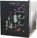 HOMEIMAGE Thermo Electric Wine Cooler 16 Bottles with Vertical Rack allows bottles to sit Vertically – HI-16C