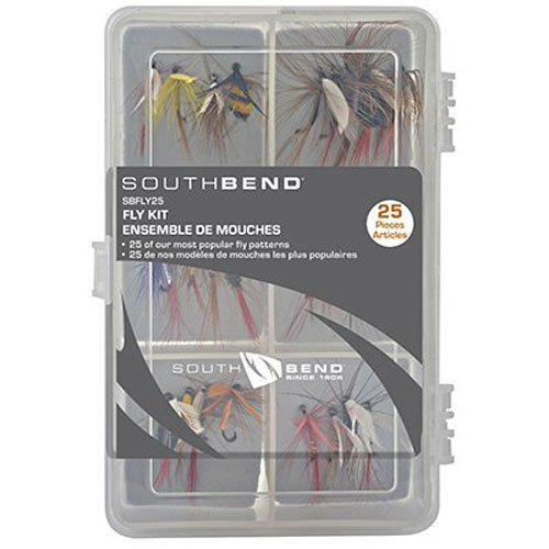 South Bend SBFLY25 25Pk Assorted Flies in Box