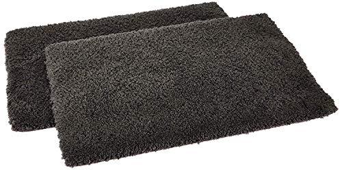 GOOD PRICE Soft Tufted Microfibre Bathroom Shower Non-Slip Back Bath Mat (60×40 cm, Grey) – Pack of 2
