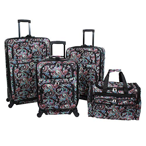 World Traveler 4-Piece Rolling Expandable Spinner Luggage ()