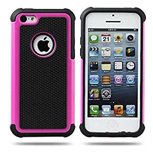 Football Lines 3in1 Hard Case for iPhone 5C(Assorted Colors) --- COLOR:Purple