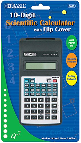 10-Digit Scientific Calculator with Flip Cover 48 pcs sku# 311358MA by Bazic