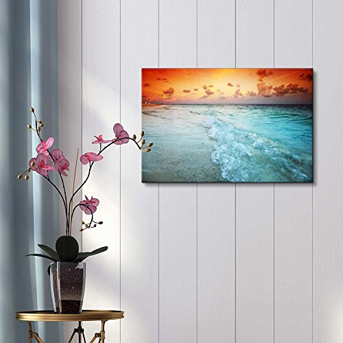 Beautiful Scenery Landscape Sunset on The Sea Beach Home Deoration Wall Decor