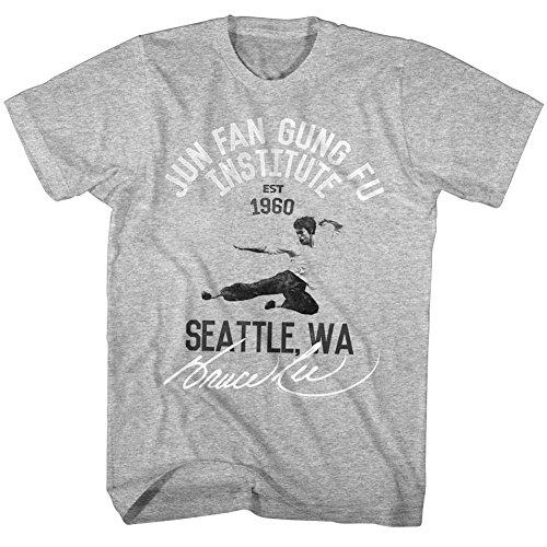 chinas Jun de Fu brezo Fung Icono marciales 2bhip camiseta Lee Coup artes Bruce Hombres de gris 1960 Fan TqAW0vYx