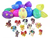 My Little Pony Figure Toy Topper Filled Easter Eggs (12 Pieces)