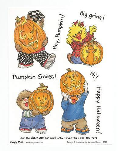 Suzy Zoo Jack O'Lantern Halloween Stickers