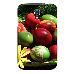New Fashionable Lucklystar GIT1709dFmJ Cover Case Specially Made For Galaxy S4(easter Eggs In The Grass)