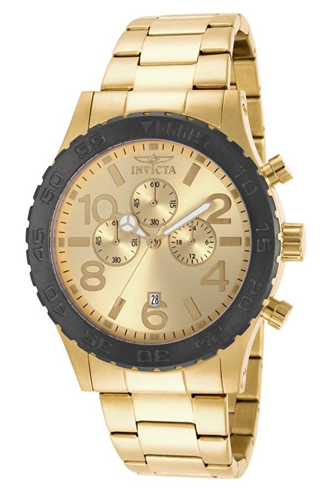 Invicta Men s 15160 Specialty Chronograph Gold Plated Stainless Steel Watch