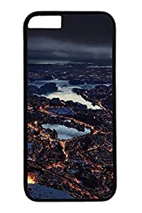 iPhone 6 Case, Personalized Unique Design Protective Cover for iPhone 6 PC Black Edge Case - Night Scenery
