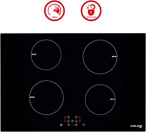 "Induction Cooktop, Gasland Chef IH77BF 30"" 4 Burner Built-in Induction Cooktops, 220V Electric Induction Cooker, 30 inch 4-Burner Electric Induction Stove Top, Timer & Safety Lock, 9 Heating Levels"