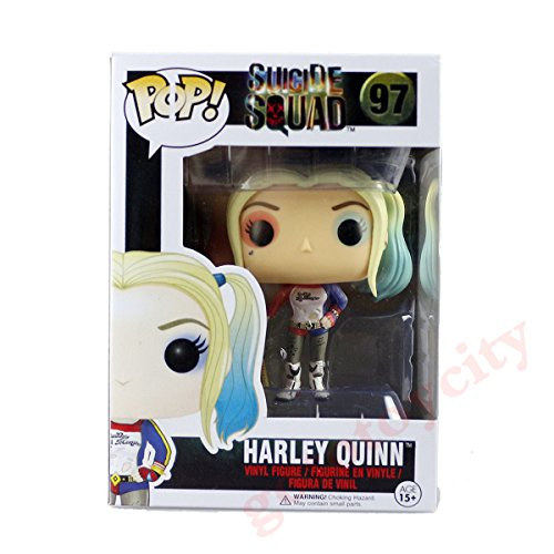 Vinyl Vixens Costumes (Hot POP Suicide Squad 97 Harley Quinn Vinyl Action Figure New In Box)
