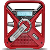 Red Cross FRX3 Hand Turbine NOAA AM/FM Weather Alert Radio with Smartphone Charger, CRCFRX3WXR (Red)