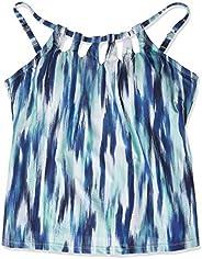 24th & Ocean Womens High Neck Adjustable Neckline Tankini Swimsuit