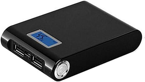 squarex 5 V 12000 mAh Dual USB Power Bank 18650 Cargador de batería DIY Caso Caja para teléfono, Negro, AS Show: Amazon.es: Deportes y aire libre