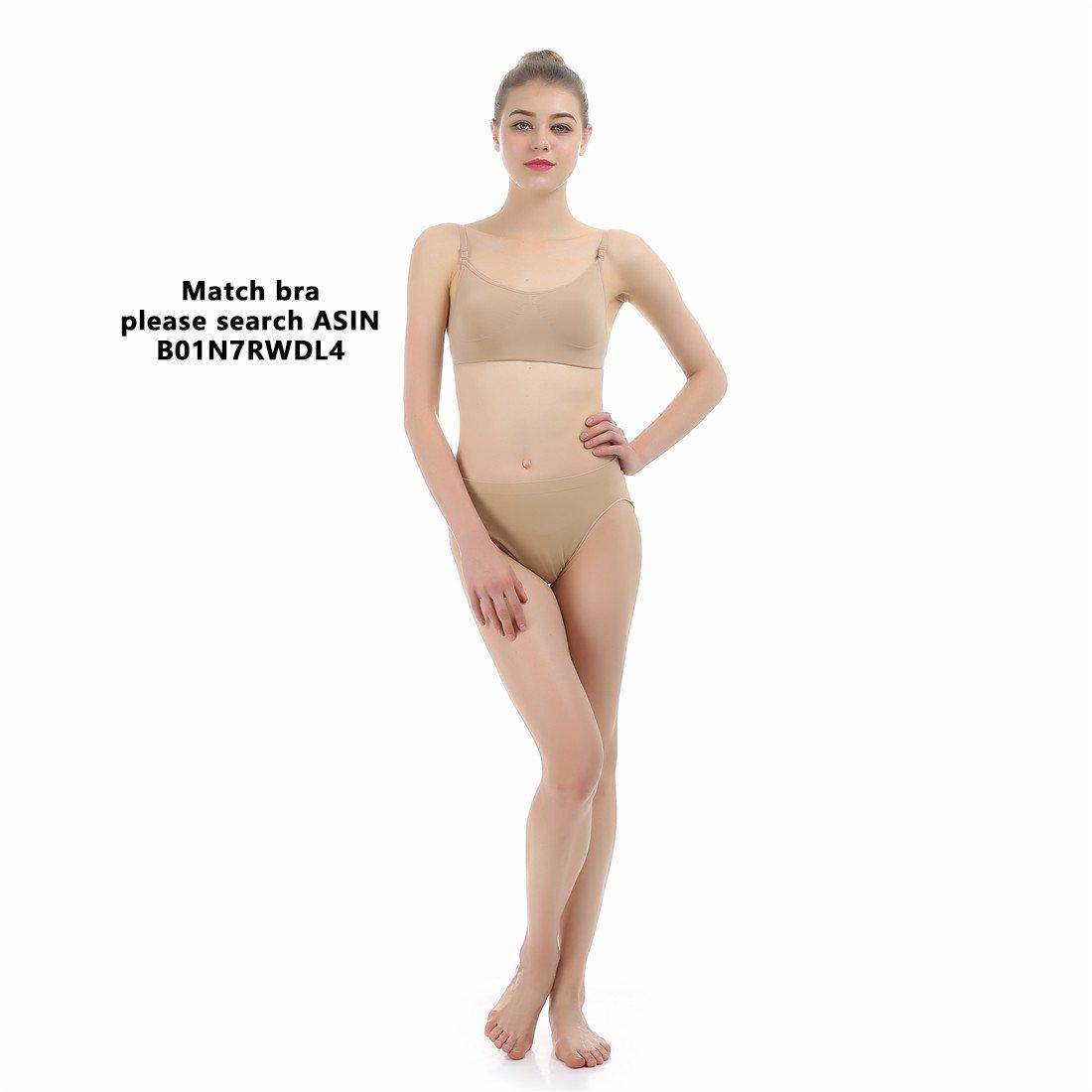 imucci profesional niña algodón beige Mid Rise de ballet Slip cintura Panty mujer baile bragas calzoncillos ropa interior: Amazon.es: Deportes y aire libre