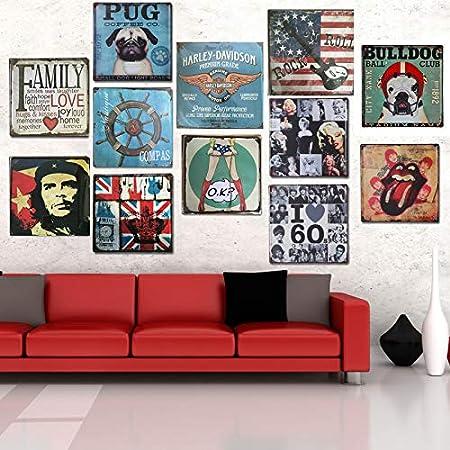 Lumanuby. Placa de Metal Vintage para decoración del hogar ...