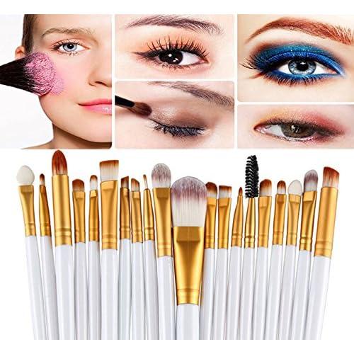 Demarkt 20PCS Set Toothbrush Shape Pinceaux de Maquillage pour les Ombre à Paupières Fondation Sourcils Pinceau Maquillage