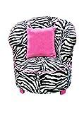 Newco Kids Tulip Chair, Minky Zebra