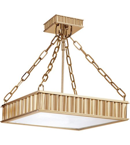 Middlebury 3 Light Drum Pendant Finish: Aged Brass, Size: 16.25