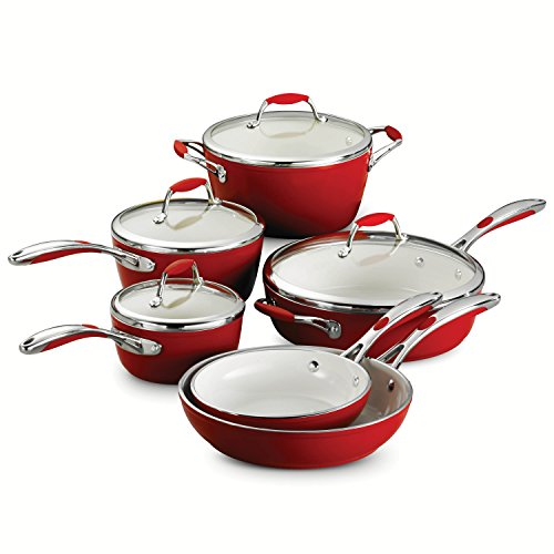 ceramic cookware in red - 8
