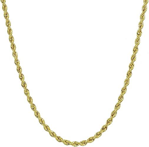 """18k Yellow Gold Filled Women/'s//Mens Necklace 24/"""" Rope 3mm charm Chain GF Jewelry"""