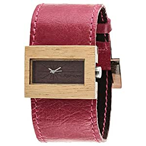 Maguaco Elegante Women's Brown Dial Leather Band Watch