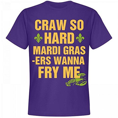 Mardis Gras Outfit (Craw So Hard Mardi Gras Tee: Unisex Next Level Premium T-Shirt)