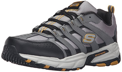 Skechers Sport Men's Stamina PlusRappel Oxford Sneaker, Gray/Black, 7.5 M US