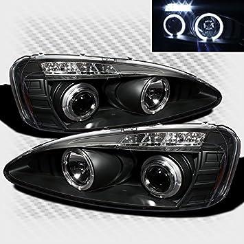 2000-2005 Chevy Impala Black Smoke LED Twin Halo Projector Headlights Left+Right