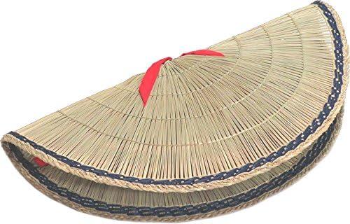 おけさ笠 あみ笠 赤布紐付 約53cm 踊り用小道具 い草 阿波踊り