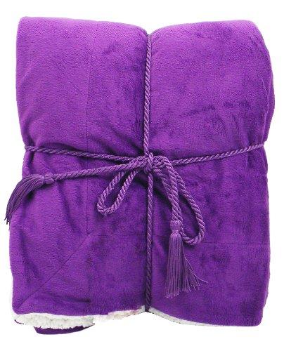 Simplicity Luxury Sherpa Blanket Purple