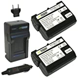 Wasabi Power Battery (2-Pack) and Charger for Nikon EN-EL15 and Nikon 1 V1, D600, D610, D800, D800E, D810, D7000, D7100