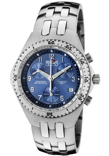 Sector Reloj 975 Chrono Mujer Swiss Made Acero 200 m Blue 2653990035 €500: Amazon.es: Relojes