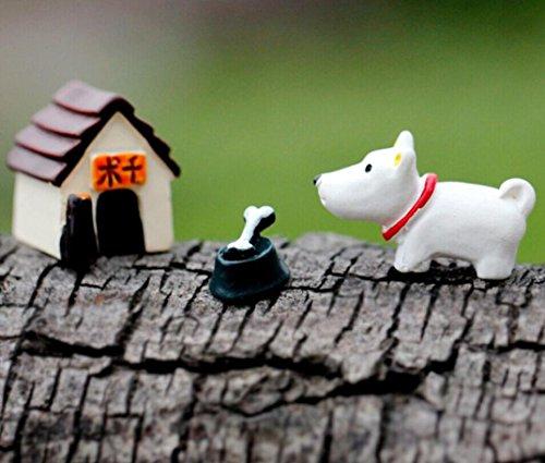 Miniature fairy garden accessories 3 Pcs Resin Model Dog Ornaments Craft Accessory Resin Home Garden Decoration DIY Ornaments