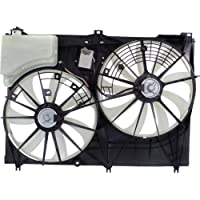 MAPM Premium HIGHLANDER 14-16 RADIATOR FAN ASSEMBLY, Dual Fan, w/o Towing Package, Except Hybrid Model