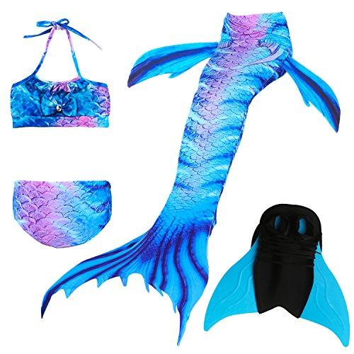 Das beste Girls Mermaid Tail Swimsuit with Monofin