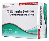 BD Ultra-Fine Insulin Syringes, 30 Gauge 1 cc 1/2'' Box of 90
