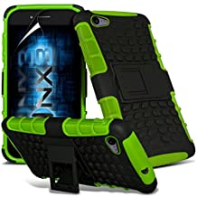 ONX3® ( Green ) Samsung Galaxy A5 2016 Case Custom Made Tough Survivor Hard Rugged Shock Proof Heavy Duty Case W/ Back Stand, LCD Screen Protector Guard, Polishing Cloth & Mini Retractable Stylus Pen