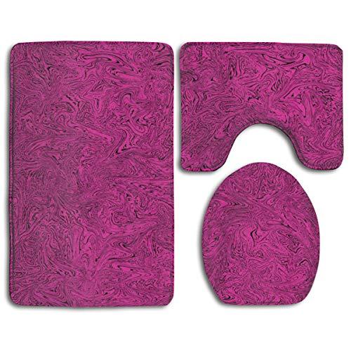 Raspberry Rug Rug - Melted Raspberry Fashion Bathroom Rug Mats Set 3 Piece Anti-Skid Pads Bath Mat + Contour + Toilet Lid Cover