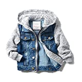 LJYH Boys' Basic Denim Jacket Trucker Jacket Stylish Fashion Trendy Coat
