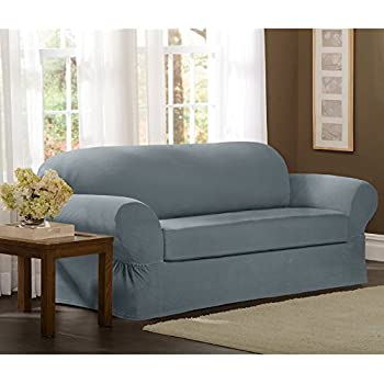 Amazon Com Classic Slipcovers 78 96 Inch Sofa Cover Blue