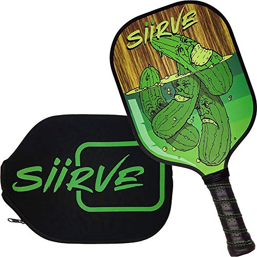 Graphite Pickleball Paddle with Cover | Premium Pickle Ball Racket with Case | Polymer Honeycomb Core (Pickle Jar)