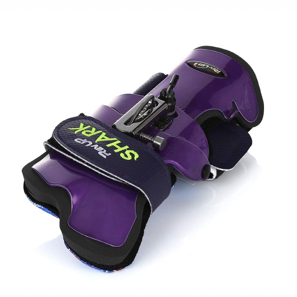 Rev-Up Shark Mongoose Bowling Wrist Support Accessories for Right Hand Purple Color (S)