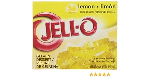 Amazon.com : Jell-O Lemon, 6 oz : Gelatin Dessert Mixes : Grocery & Gourmet Food