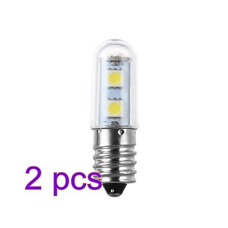 Winbang Bombillas LED, E14 1W 7-LED Lámpara de la bombilla del refrigerador Blanco
