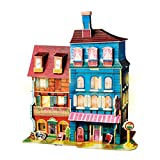 Rolife 3D Wooden Puzzle,LED House Model,Miniature DIY Dollhouse Decorations-City Architecture 3D Puzzle Series-Best Birthday Gifts for Women and Girls (Lost in Colmar)