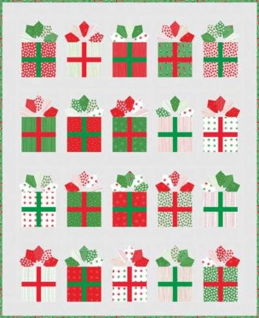 Me and My Sister Designs Red Dot Green Dash Quilt Kit Moda Fabrics - Design Product Dot Red