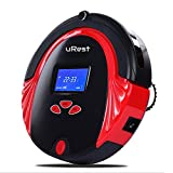 Antibacterial Robot Vacuum Cleaner uRest, 4 in 1 Multifunction (Sweep, Mop, Vacuum, Disinfection) 2 Speed, Auto Recharge, 6 Cleaning Modes + HEPA Air Filter. Great for Pets and Allergies - Red Color