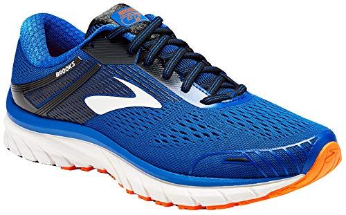 Brooks Men Adrenaline GTS 18 Running Shoes (9.5 4E US, Blue/Black/Orange)