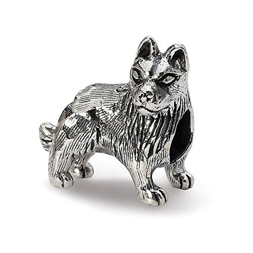 925 Sterling Silver Charm For Bracelet German Shepherd Bead Animal Fine Jewelry Gifts For Women For Her